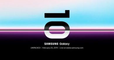 Le nouveau samsung Galaxy S10