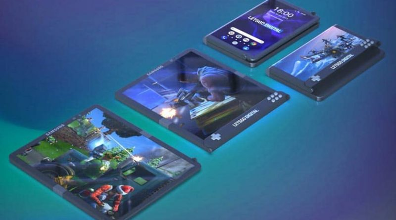 samsung smartphone pliable gaming